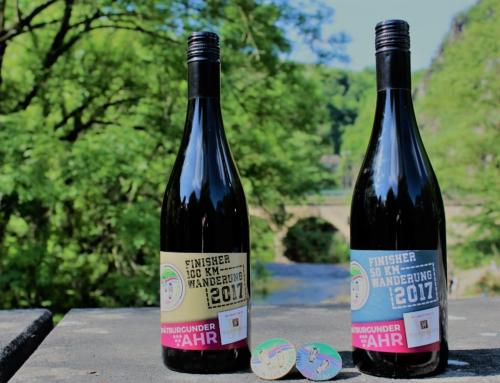 Sonderabfüllung: Spätburgunder der Weinmanufaktur Walporzheim für erfolgreiche Wanderer