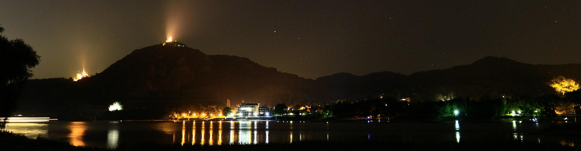 Siebengebirge bei Nacht - RHEIN-AHR-MARSCH