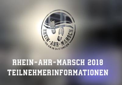 RHEIN-AHR-MARSCH 2018 - Teilnehmerinformationen